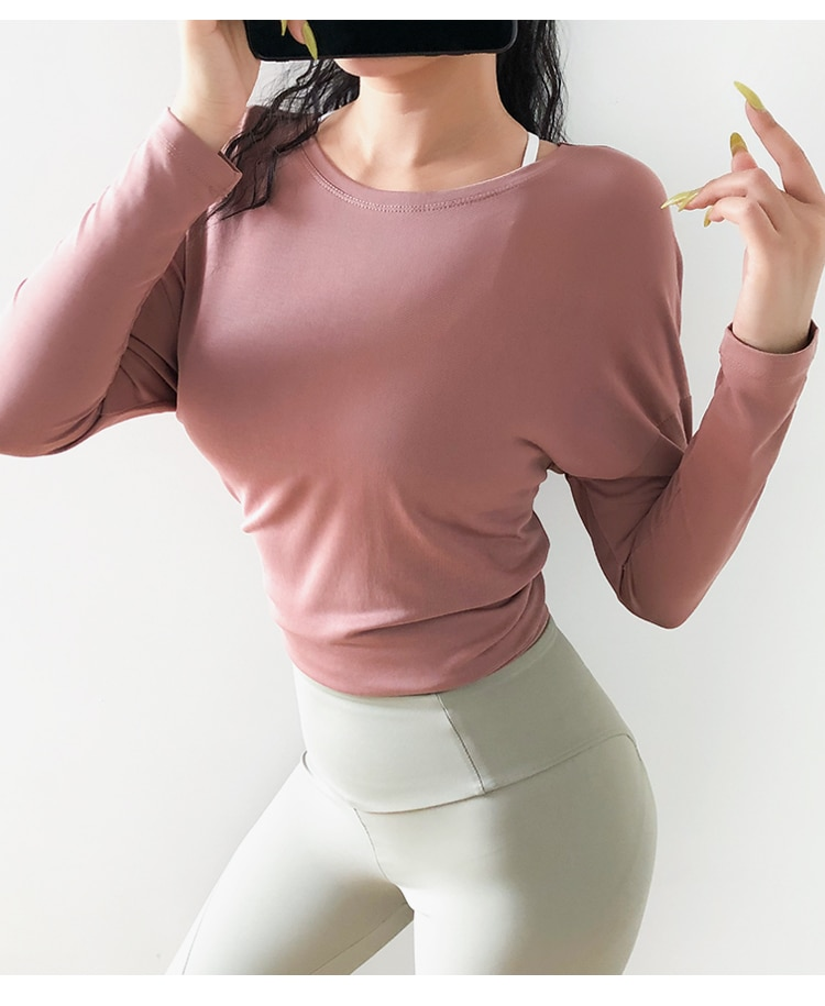 1044249606 1 - Relaxed Cutout Back Long Sleeve Top