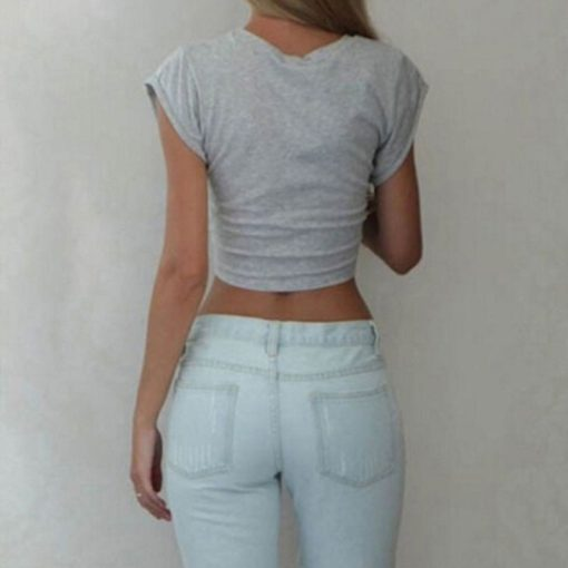 Knotted Tie Front Crop Top 5