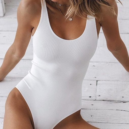 Ribbed Bodysuit Tank 1