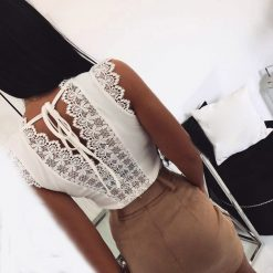 Lace Tie-Back Top 1