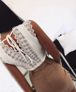 Lace Tie-Back Top