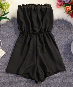 Black Chiffon Romper – One Size