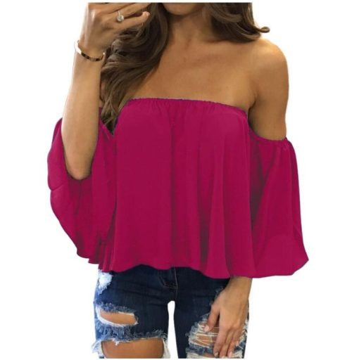 Off Shoulder Strapless Top 4