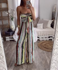 Strapless Striped Jumpsuit 1