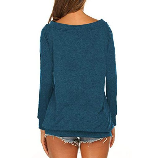 Off The Shoulder Long Sleeve Tee
