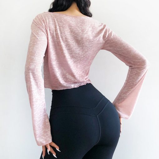 Breathable Cropped Yoga Top 2