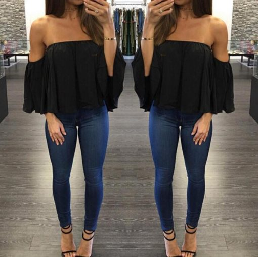 Off Shoulder Strapless Top 2