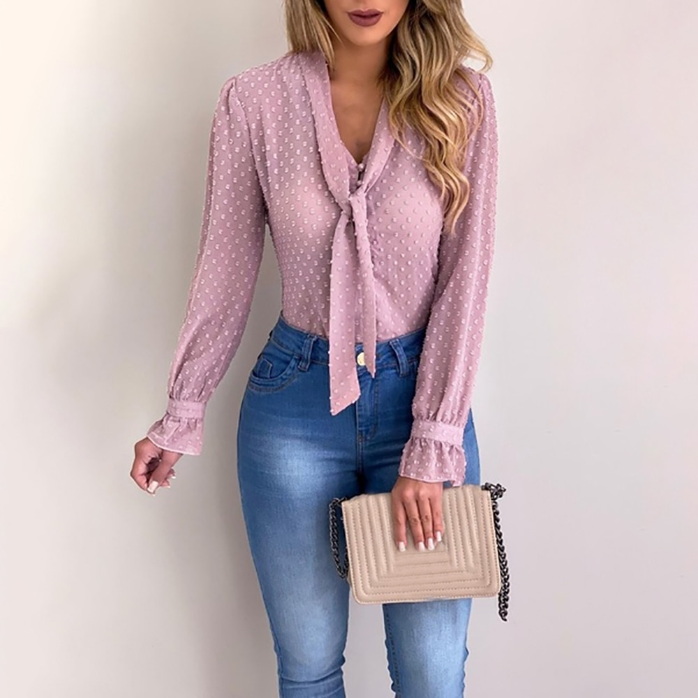 Chiffon Buttoned Long Sleeve Top 5