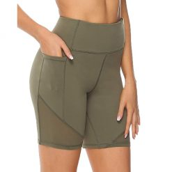 High Waisted Mesh Biker Shorts 4