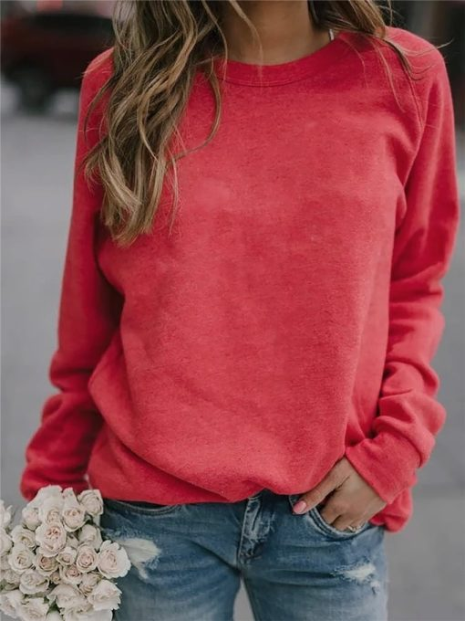 Loose Fit Long Sleeve Casual Tee