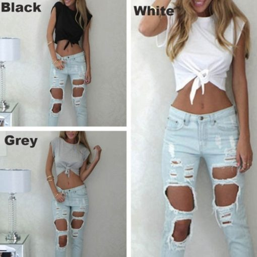 Knotted Tie Front Crop Top 4