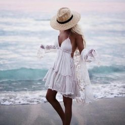 Boho Layered Spaghetti Strap Summer Dress  1