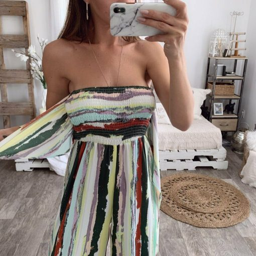 Strapless Striped Jumpsuit 2