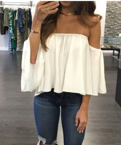 Off Shoulder Strapless Top