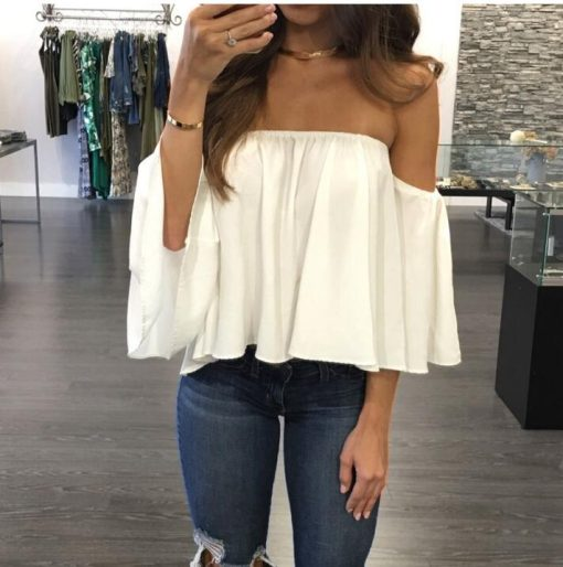 Off Shoulder Strapless Top 1