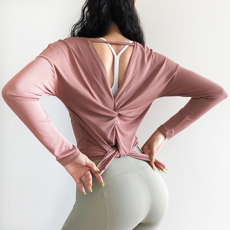 Relaxed Cutout Back Long Sleeve Top 8