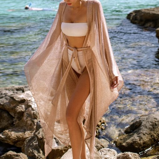 Laced In Gold Kimono Cover Up 1