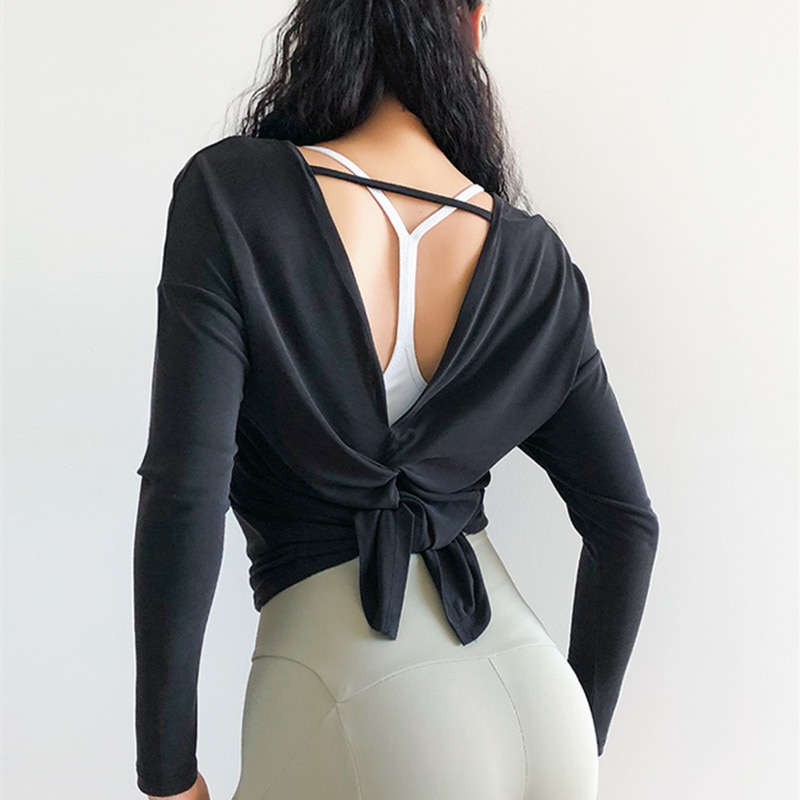 Relaxed Cutout Back Long Sleeve Top 9