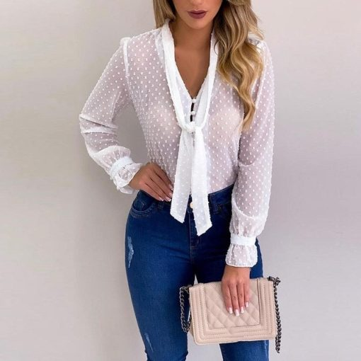 Chiffon Buttoned Long Sleeve Top 1
