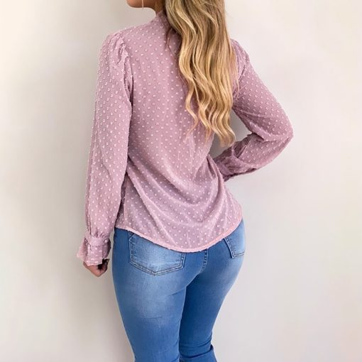 Chiffon Buttoned Long Sleeve Top 4