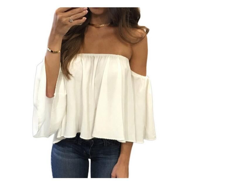 Off Shoulder Strapless Top 7