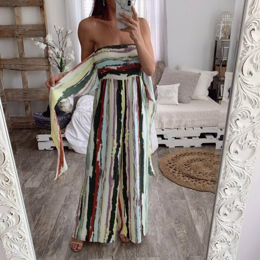 Strapless Striped Jumpsuit 4