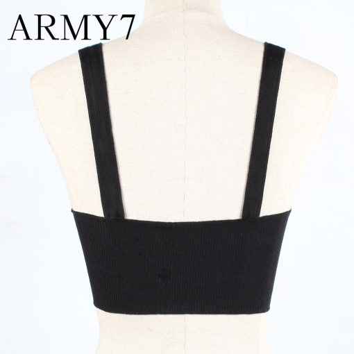 Front Knot Ribbed Cropped Top