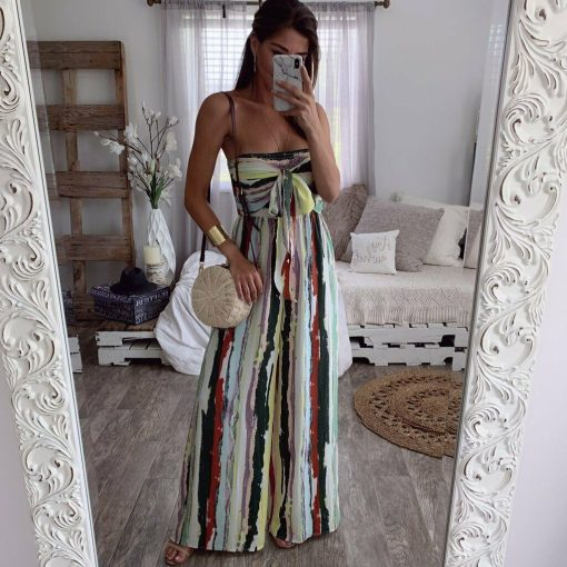 Strapless Striped Jumpsuit 3