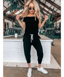 Casual Off the Shoulder Jumpsuit