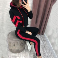 Cropped Striped Track Suit 4