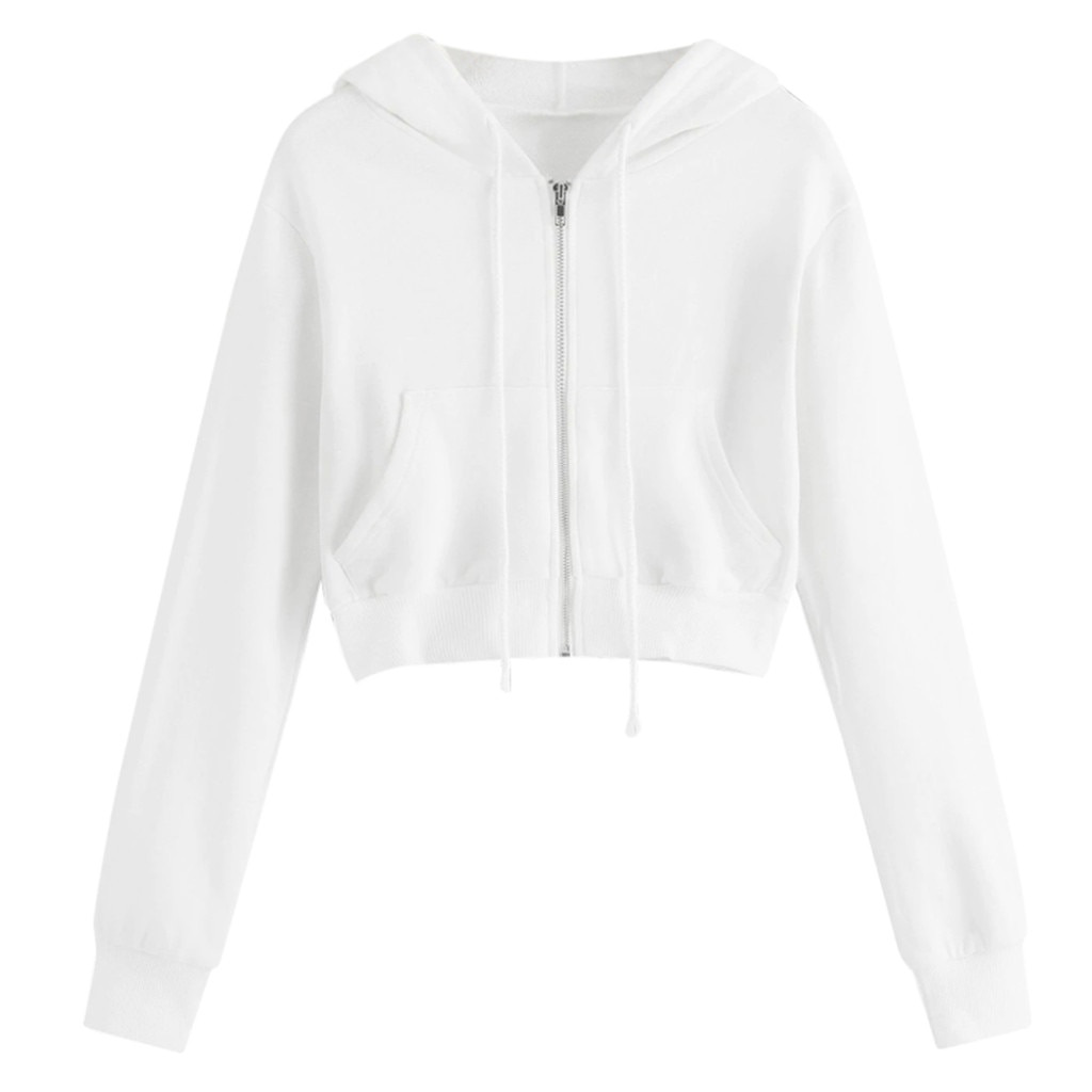 Cropped Zip Up Hoodie 6