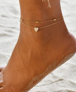 Stainless Steel Heart Ankle Bracelet 2