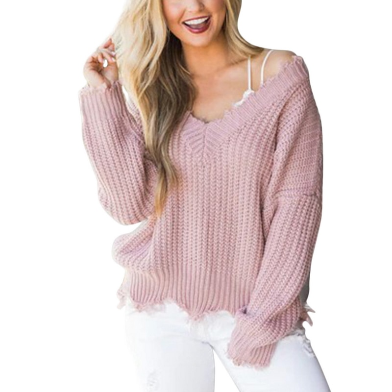 Off the Shoulder Distressed Sweater 13