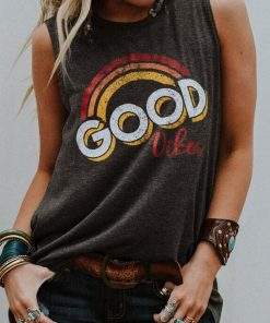 Good Vibes Sleeveless Muscle Tee