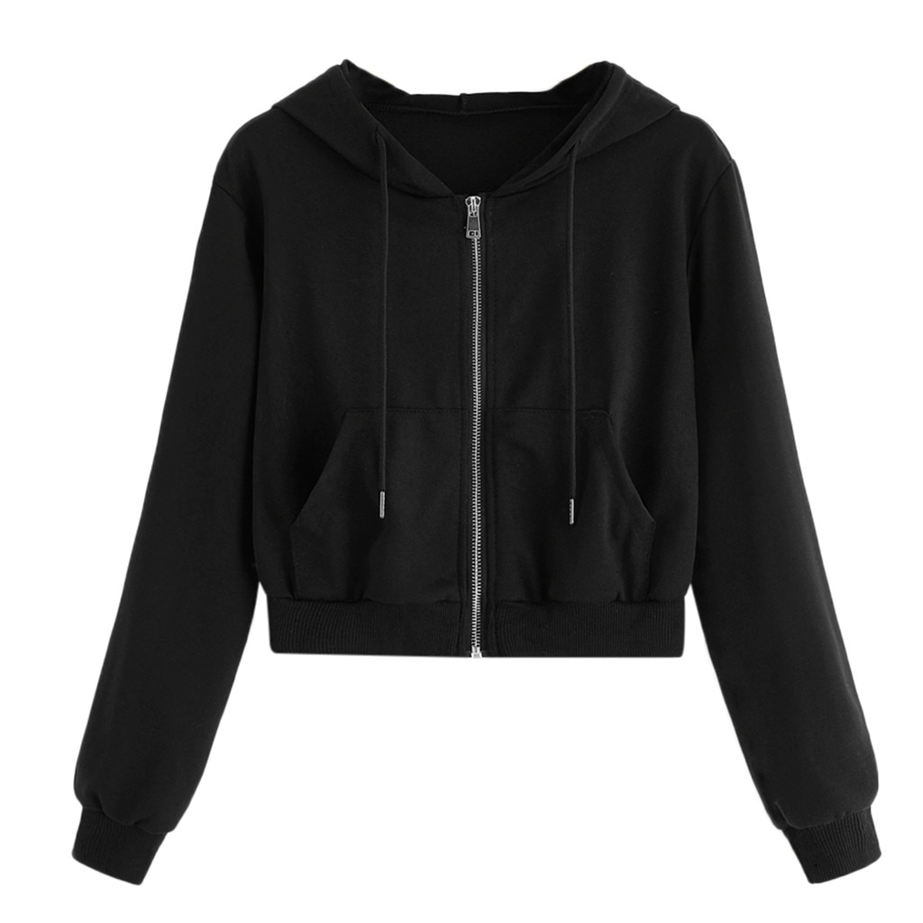 Cropped Zip Up Hoodie 7