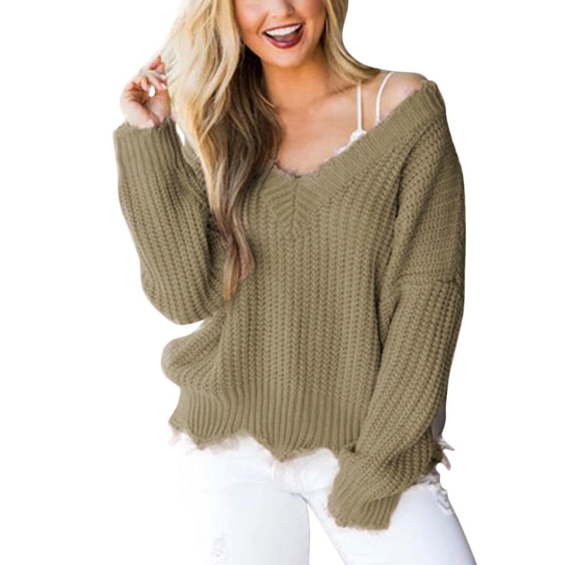 Off the Shoulder Distressed Sweater 17