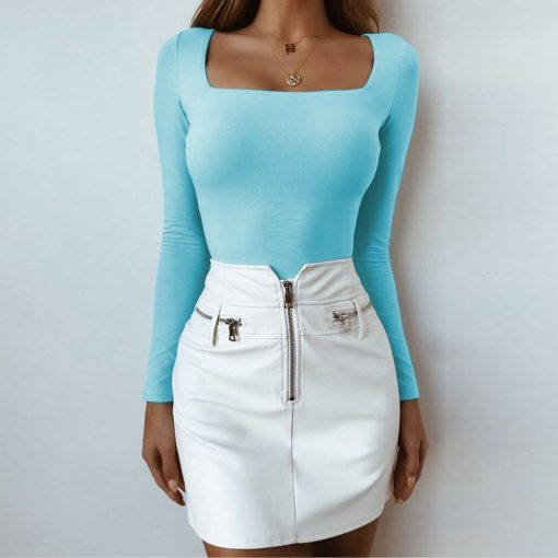 Square Neck Long Sleeve Top 4