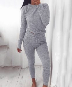 Casual Two Piece Loungewear Tracksuit  1