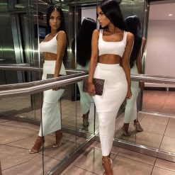 Two Piece Pencil Skirt Set 1