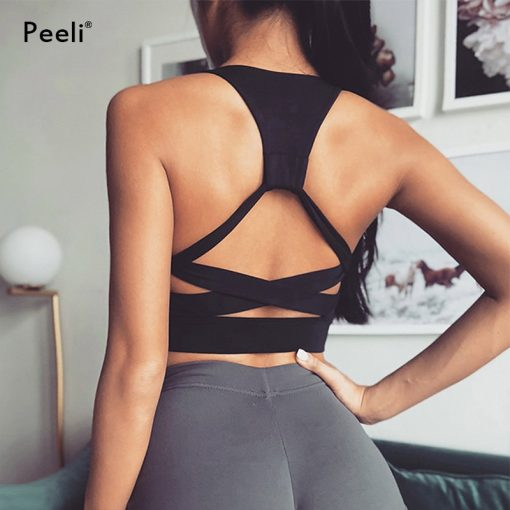 Seamless Backless High Support Sports Crop Top 3
