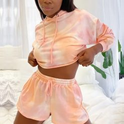 Tie Dye Lounge Shorts Set 1