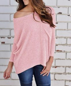 Off Shoulder Knit Sweater 1