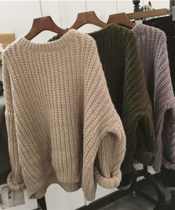 Retro Oversized Winter Knitted Sweater 1