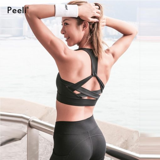 Seamless Backless High Support Sports Crop Top 5