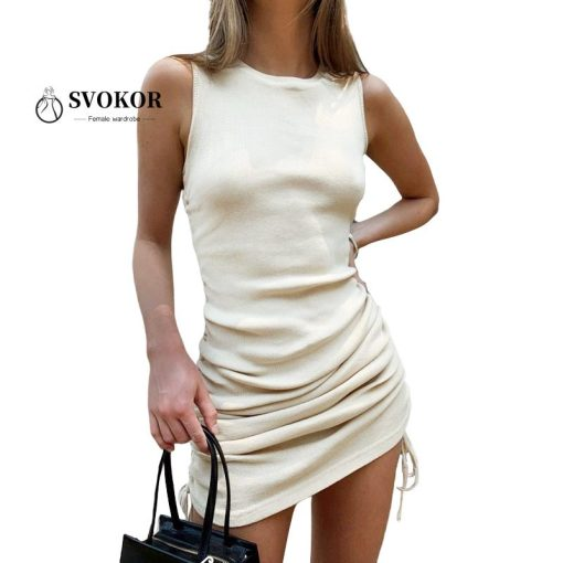 Ruched Drawstring Bodycon Dress 1
