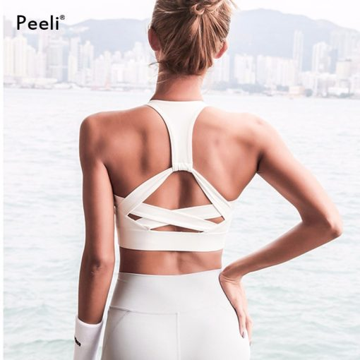 Seamless Backless High Support Sports Crop Top 6