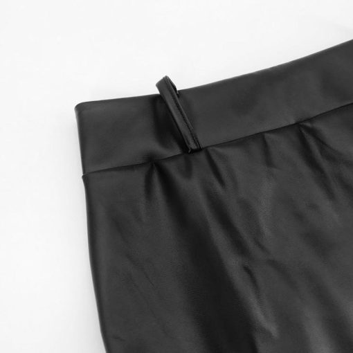 Leather and Lace Asymmetrical Skirt 5