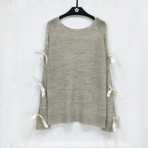 Hollow Out Bow Sweater 5