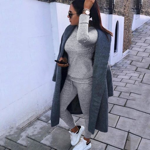 Casual Two Piece Loungewear Tracksuit  2