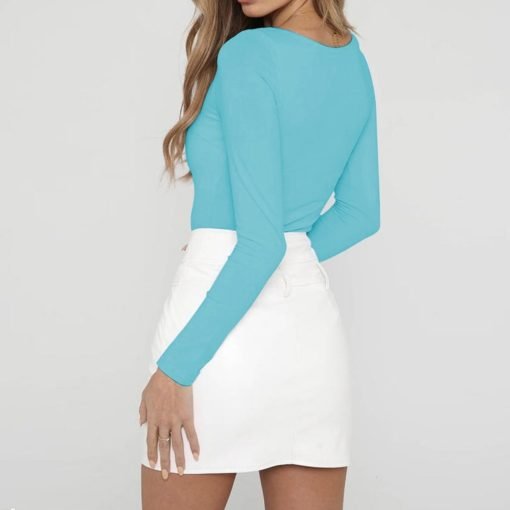 Square Neck Long Sleeve Top 5